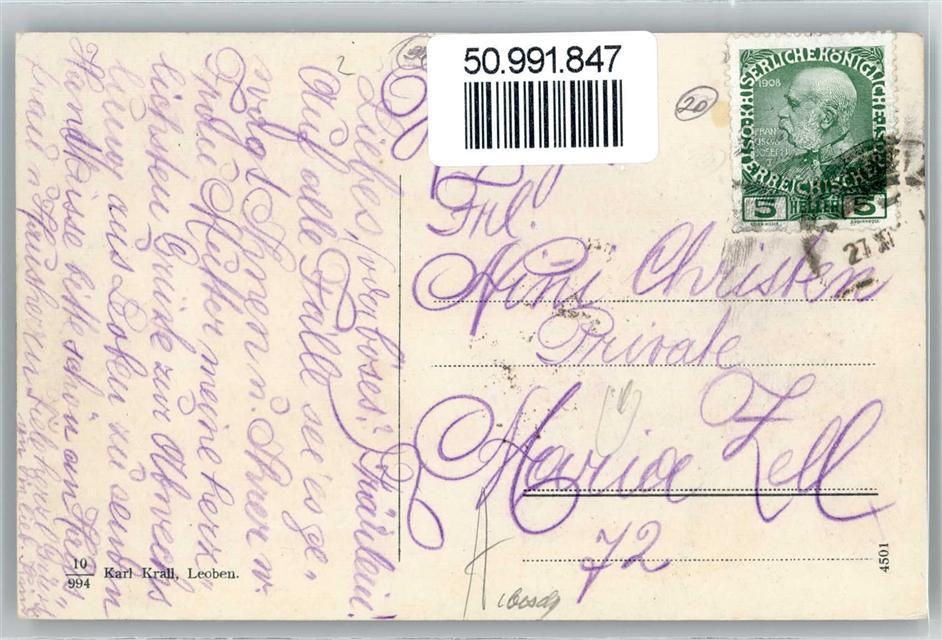 50991847 Leoben Kaiser Josef Platz Grand Hotel Gaerner