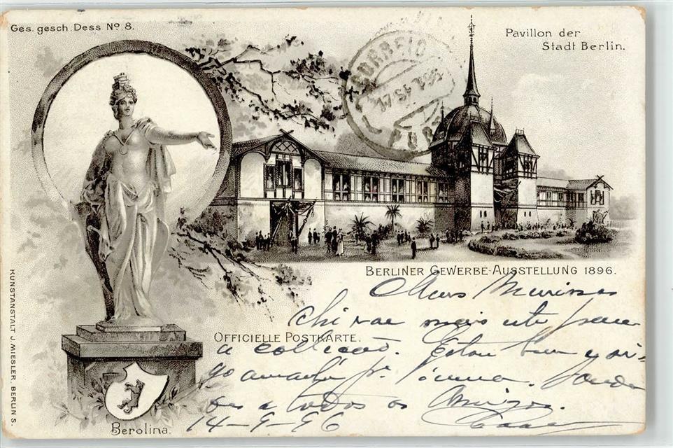 52354315 Berlin Mitte Berliner Gewerbe Ausstellung 1896